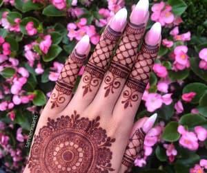 girly, hands, and mehndi image