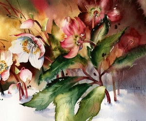 art, watercolor, and paintings image