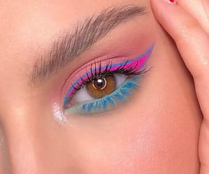 makeup, aesthetic, and colorful image