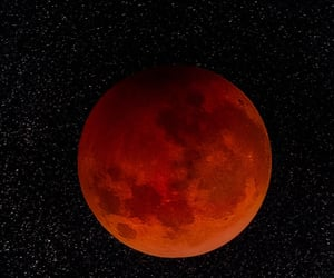 eclipse, moon, and red image