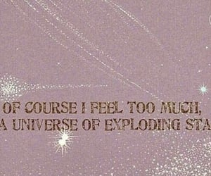 quotes, stars, and pink image