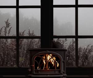 autumn, autumnal, and fireplace image