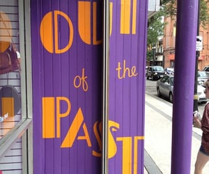 past, purple, and words image