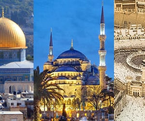 hajj, umrah, and holy mosques image