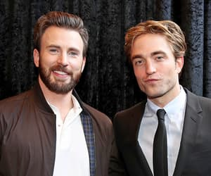 chris evans and robert pattinson image