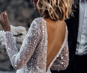 dress, glitter, and hair image