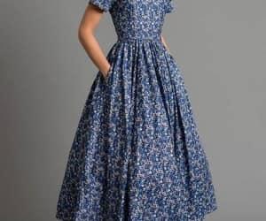 Bleu, dress, and mode image