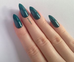 green stiletto nails image