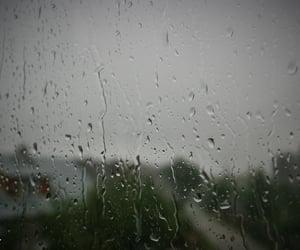 drops, rain, and window image