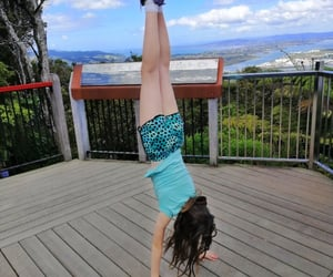 gymnastics, handstand, and mountain image