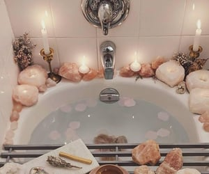 bath, crystals, and relax image