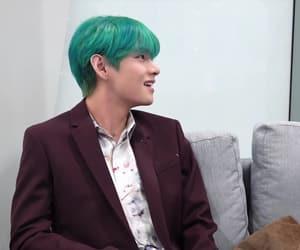army, kpop idol, and blue hair image