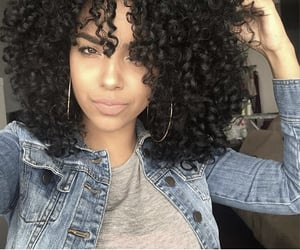 curly hair, natural hair, and pretty image