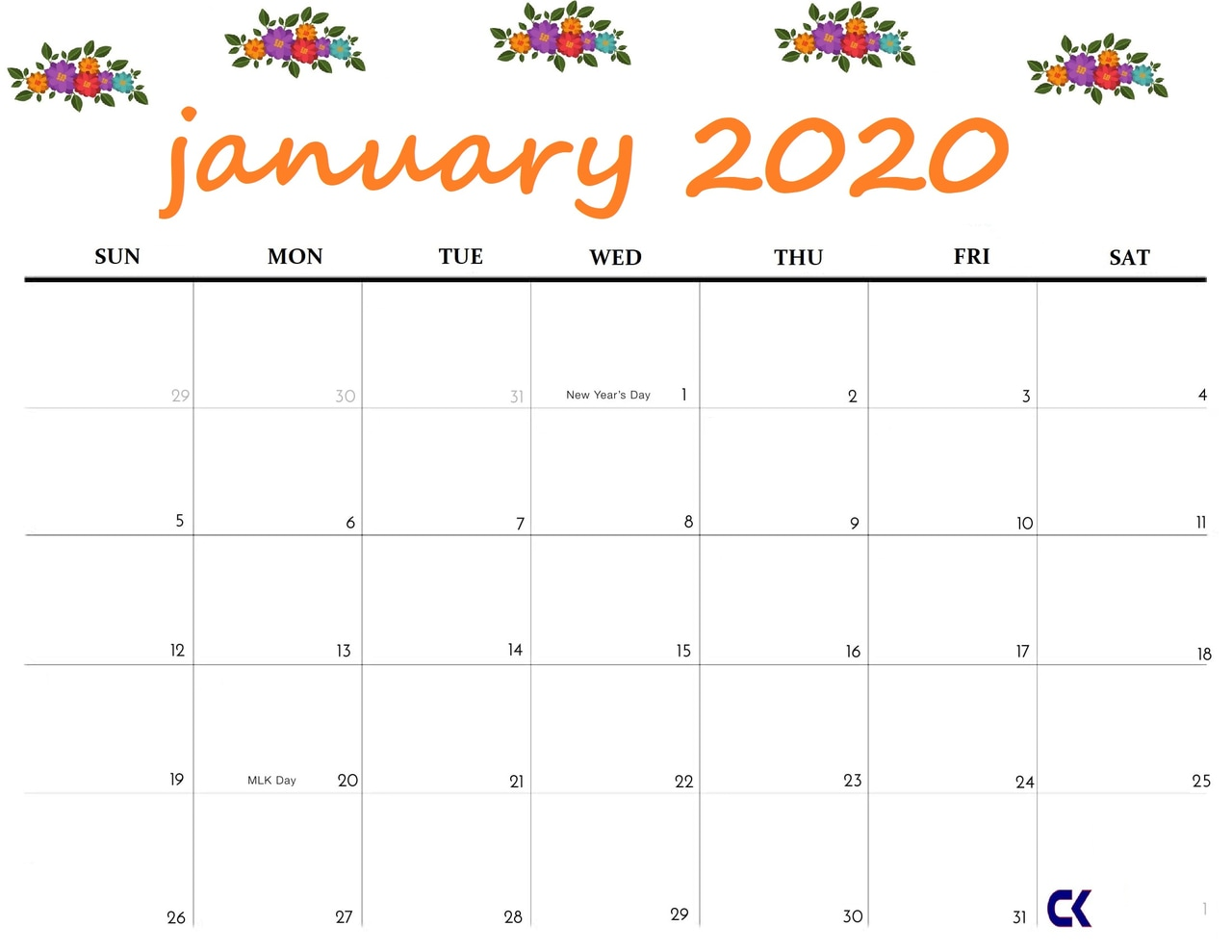 It is a photo of Astounding January Printable Calendars