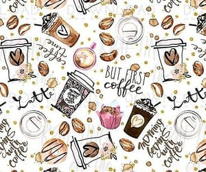 wallpaper, coffee, and pattern image