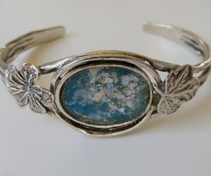 etsy, blue bracelet, and cuff bracelet image