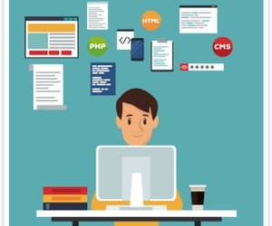 seo, web design, and digital marketing image