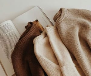 book, sweater, and aesthetic image