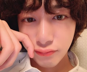 curly, hyungwon, and lips image
