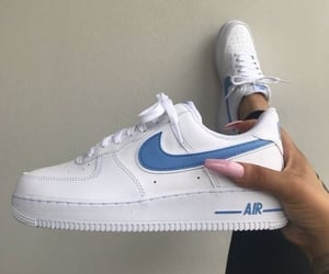 sneakers, blue, and nike image