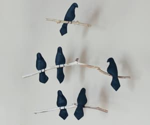 black birds, home decor, and etsy image