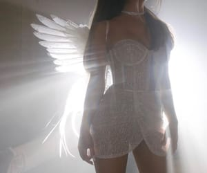 angel, dreamy, and white image