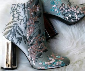 booties, gold, and shoes image