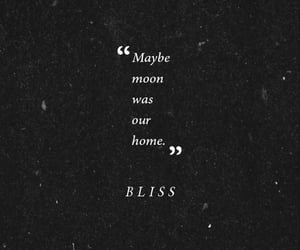 home, moon, and poem image