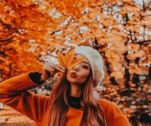 autumn, girl, and coat image