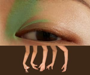 brown, lashes, and surreal image