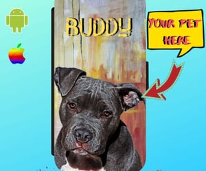 etsy, custom phone cover, and dog loss gift image