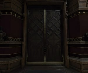 bedroom, brown, and gothic image