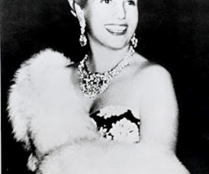 black and white, evita, and eva peron image