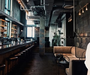 architecture, bar, and couch image