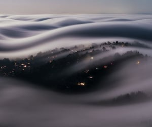 clouds, fog, and nature image
