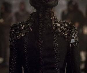 black, braid, and fashion image