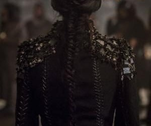 black, hair, and braid image