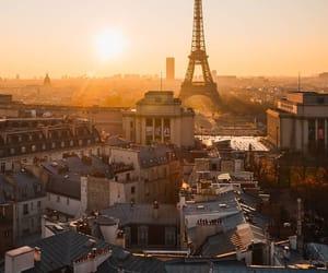 city, paris, and eiffel tower image