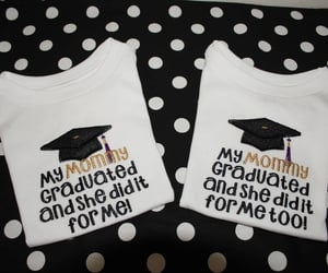 baby clothes, etsy, and school graduation image