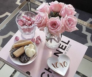 chanel, flowers, and home decor image