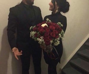couple, love, and roses image