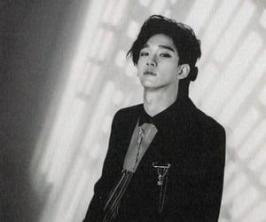 black white, Chen, and exo image