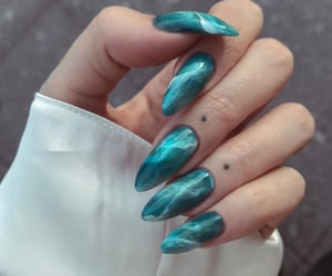 blue, nails, and green image