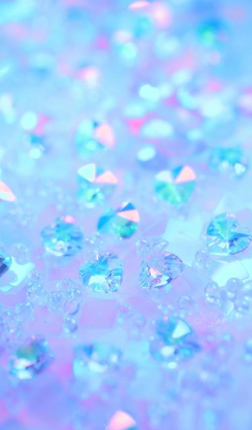 blue cute scenery art: diamond+jewels