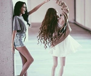 best friends, girls, and friendship image