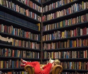 books, girl, and reading image