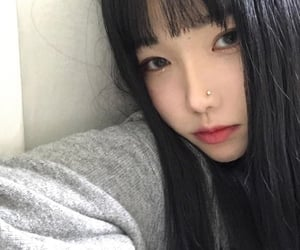 girl, goth, and korean image