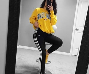 adidas, women, and amarillo image