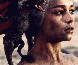 dragon, daenerys targaryen, and game of thrones image