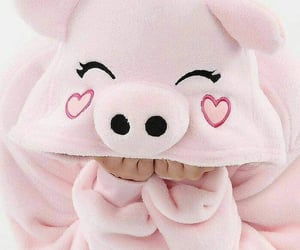 girl, pig, and sweet image